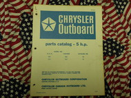 1968 Chrysler Outboard 5 HP Parts Catalog