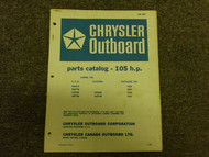 1968 Chrysler Outboard 105 HP Parts Catalog
