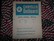 1967 Chrysler Outboard 20 HP Parts Catalog