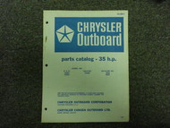1966 Chrysler Outboard 35 HP Parts Catalog