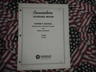 1965 Commodore Outboard Owner Part Operating Manual 7.5