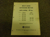 1965 Chrysler Outboard 40 HP Parts Catalog