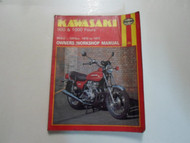1973 1977 Haynes Kawasaki 900 1000 Fours Owners Workshop Manual 903cc 1015cc