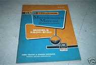 1962 GMC Service Shop Repair Manual Supplement Oem 62