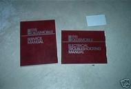 1981 OLDSMOBILE OLDS ALL MODELS Service Shop Repair Manual Set W WIRING DIAGRAMS