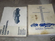 1992 FORD LINCOLN CONTINENTAL Service Shop Repair Manual Set W EVTM EWD OEM 92