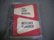 1960 Ford Mercury & Monarch Service Shop Repair Workshop Manual CDN OEM Book 60