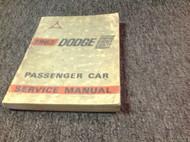 1963 Dodge Custom Eight Eighty 88 Service Shop Repair Workshop Manual OEM