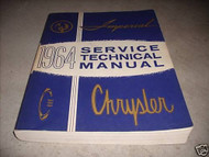1964 CHRYSLER MOPAR IMPERIAL Service Shop Repair Manual NEW REPRINT
