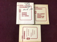 1978 OLDSMOBILE OLDS All Models Service Shop Repair Workshop Manual OEM Set