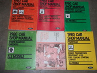 1980 Ford Mustang & Capri Repair Service Shop Workshop Manual Set OEM