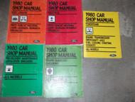 1980 Ford Mustang Capri Pinto Repair Service Shop Workshop Manual Set OEM