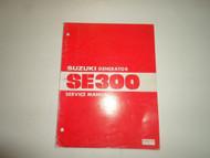 1981 Suzuki Generator SE300 Service Repair Shop Manual MINOR WEAR DAMAGED OEM 81