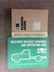 1983 CHEVY CHEVROLET TRUCK 10 30 SERIES 10-30 Service Repair Shop Manual SET W B