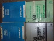 1988 Chrysler Conquest Service Repair Shop Manual Set FACTORY W DIAGNOSTICS BOOK