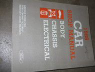 1986 Ford Crown Victoria Lincoln Town Car Grand Marquis Service Shop Manual OEM