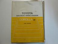 1987 Toyota Corolla FR Electrical Wiring Diagram Service Repair Manual USED WEAR