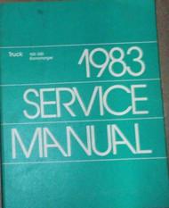 1983 Dodge Ramcharger DW 150 250 350 DIESEL Service Shop Repair Manual OEM