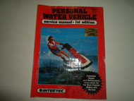 1989 Personal Water Vehicle Service Manual 1st edition WATER DAMAGED FACTORY