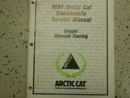 1991 Arctic Cat Cougar Cheetah Touring Service Repair Shop Manual FACTORY OEM x