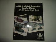 1992 Arctic Cat EXT Special Prowler Special Service Repair Manual MINOR WEAR 92