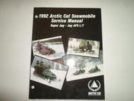 1992 Arctic Cat Super Jag Jag AFS L/T Service Repair Shop Manual MINOR WEAR OEM