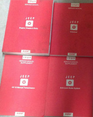 1989 JEEP WRANGLER Cherokee Wagoneer Service Shop Repair Manual Set FACTORY OEM