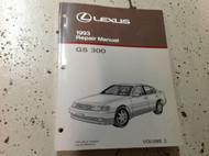 1993 LEXUS GS300 GS 300 Service Repair Shop Manual VOLUME 2 ONLY Factory
