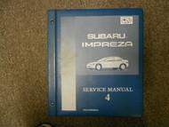 1996 Subaru Impreza Service Manual Volume 4 FACTORY OEM BOOK 96 BINDER