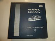 1996 Subaru Legacy Mech & Function Troubleshooting Wiring Service Manual BINDER