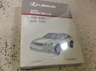 2002 LEXUS GS430 GS300 Service Shop Repair Manual VOLUME 2 ONLY FACTORY