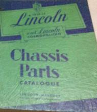 1949 1950 1951 LINCOLN & COSMOPOLITAN Chassis Parts Catalog Catalogue Manual OEM