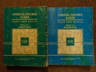 1991 FORD RANGER EXPLORER AEROSTAR Service Shop Repair Manual SET FACTORY OEM x