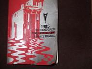 1985 GM Pontiac Firebird Trans Am Service Shop Repair Workshop Manual OEM