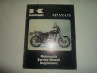 1981 Kawasaki KZ1000 LTD Motorcycle Service Shop Manual Supplement x OEM