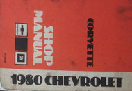 1980 GM Chevrolet Chevy CORVETTE Service Shop Repair Workshop Manual Brand New