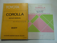 1980 Toyota Corolla Body Repair Shop Manual and Air Conditioning OEM Books