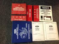 1994 LINCOLN TOWN CAR Service Shop Workshop Manual Set OEM Trans + EWD Book