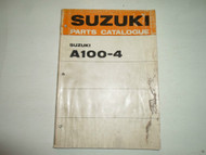 1971 Suzuki A1004 A100-4 Parts Catalog Manual WATER DAMAGED STAINED WORN DAMAGED