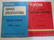 1978 Toyota 3K-C Engine Emission Control Service Repair Shop Manual SET OEM