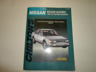 1985 1992 Chiltons Nissan Maxima Repair Manual U.S. CANADIAN W/WIRING VACUUM DIA