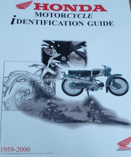 1971 1972 1973 1974 1975 1976 Honda Motorcycle Identification Guide Manual NEW