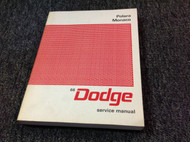 1966 Dodge Mopar POLARA & MONACO Service Shop Repair Workshop Manual NEW 66