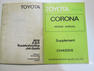 1976 Toyota ESR Troubleshooting Job Guide Set Factory Books OEM Used