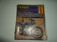 1973 Haynes Honda 400 550 FOURS 408cc 544cc Owners Workshop Manual DAMAGED STAIN