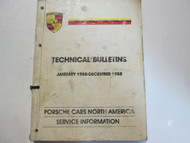 1988 Porsche Technical Bulletins Service Information Manual Factory OEM Used