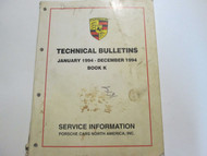 1994 Porsche Technical Bulletins Service Information Manual Factory OEM Book