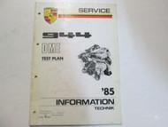 1985 Porsche 944 DME Test Plan Service Information Technik Manual Factory OEM 85