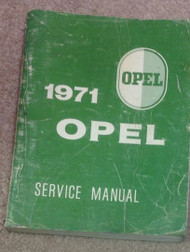 1971 OPEL GT & KADETT Service Shop Repair Workshop Manual BOOK Factory OEM 71