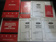 1994 FORD MUSTANG Service Shop Repair Workshop Manual Set W Tech Bulletins x OEM